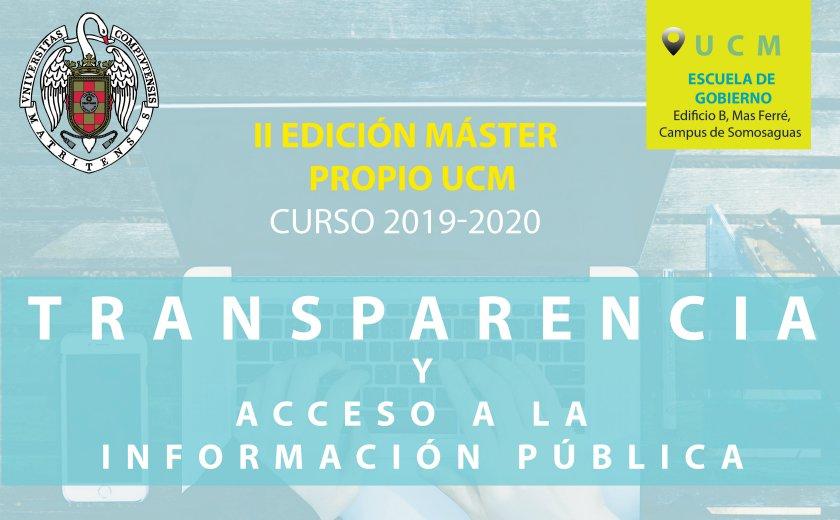 Master Propio en Transparencia y Acceso a la Información Pública